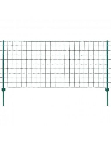 Euro tvoros komplektas, 20x0,8m, plienas, žalias | Tvoros Segmentai | duodu.lt