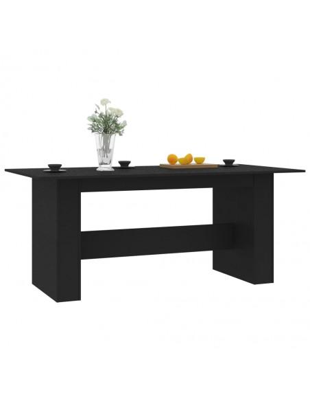 Valgomojo komplektas, 3 dalių, juodos spalvos, audinys | Virtuvės ir Valgomojo Baldų Komplektai | duodu.lt