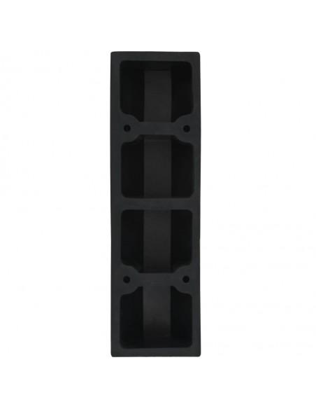 Gabionas 3 šiukšlių konteineriams, plienas, 110x100x120 cm  | Šiukšlių Laikymo Priedai | duodu.lt