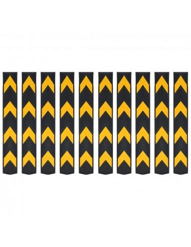 Šviesą atspindinčios kampų apsaugos, 10vnt., guma, 80cm  | Parkavimo ženklai ir leidimai | duodu.lt