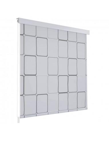Dušo roletas, 100x240 cm, kvadratų raštas  | Dušo užuolaidos | duodu.lt