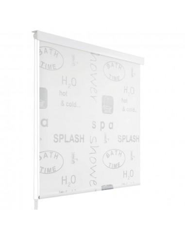 Dušo roletas, 80x240 cm, su užrašais  | Dušo užuolaidos | duodu.lt