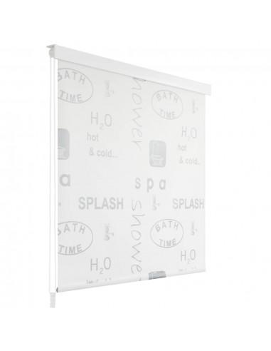 Dušo roletas, 100x240 cm, su užrašais    Dušo užuolaidos   duodu.lt