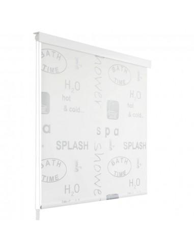 Dušo roletas, 120x240 cm, su užrašais  | Dušo užuolaidos | duodu.lt