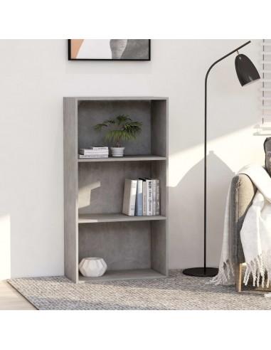 Spintelė knygoms, 3 lentynos, betono pilka, 60x30x114cm, MDP | Knygų Spintos ir Pastatomos Lentynos | duodu.lt