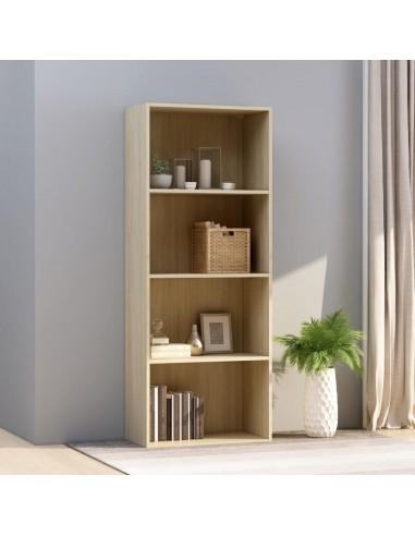 Spintelė knygoms, 4 lentynos, ąžuolo, 60x30x151,5cm, MDP | Knygų Spintos ir Pastatomos Lentynos | duodu.lt