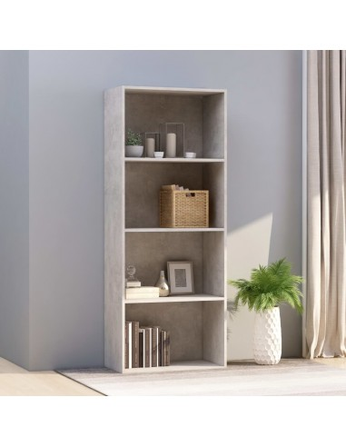 Spintelė knygoms, 4 lentynos, betono pilka, 60x30x151,5cm, MDP   Knygų Spintos ir Pastatomos Lentynos   duodu.lt