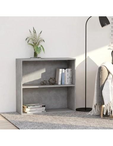 Spintelė knygoms, 2 lentynos, betono pilka, 80x30x76,5cm, MDP   Knygų Spintos ir Pastatomos Lentynos   duodu.lt