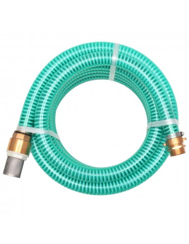 Siurbimo žarna su žalvarinėmis jungtimis, 10 m 25 mm, žalia | Sodo Žarnos | duodu.lt