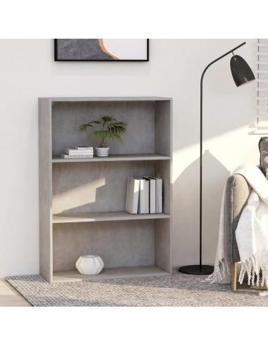 Spintelė knygoms, 3 lentynos, betono pilka, 80x30x114cm, MDP | Knygų Spintos ir Pastatomos Lentynos | duodu.lt