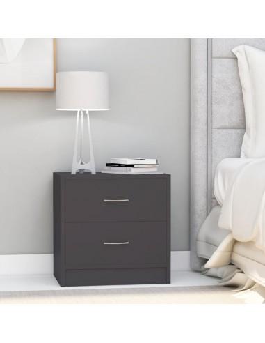 Naktinės spintelės, 2vnt., pilkos spalvos, 40x30x40cm, MDP | Naktiniai Staliukai | duodu.lt