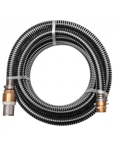 Siurbimo žarna su žalvarinėmis jungtimis, 7 m 25 mm, juoda | Sodo Žarnos | duodu.lt