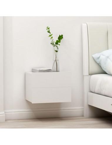 Naktinė spintelė, baltos spalvos, 40x30x30cm, MDP | Naktiniai Staliukai | duodu.lt