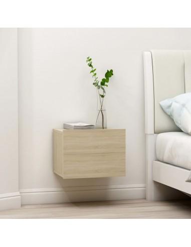 Naktinė spintelė, sonoma ąžuolo spalvos, 40x30x30cm, MDP | Naktiniai Staliukai | duodu.lt