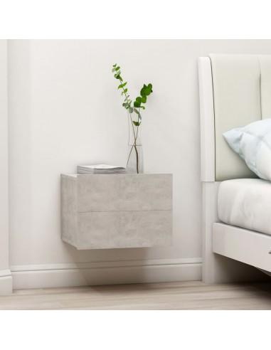 Naktinės spintelės, 2vnt., betono pilkos, 40x30x30cm, MDP | Naktiniai Staliukai | duodu.lt