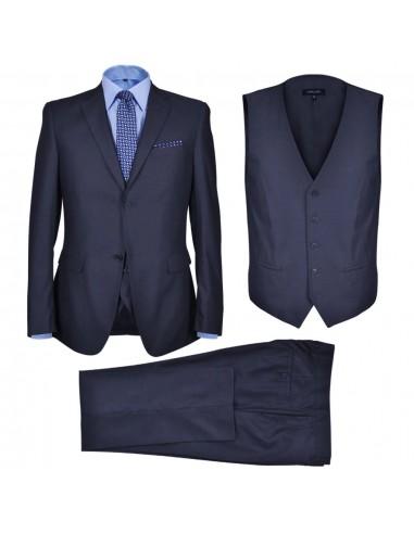 Klasikinis Trijų Dalių Vyriškas Kostiumas, 54 Dydis, Tamsiai Mėlynas | Kostiumai | duodu.lt