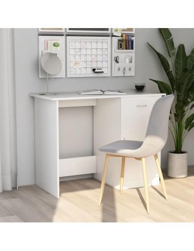 Rašomasis stalas, baltos spalvos, 100x50x76cm, MDP   Rašomieji Stalai   duodu.lt