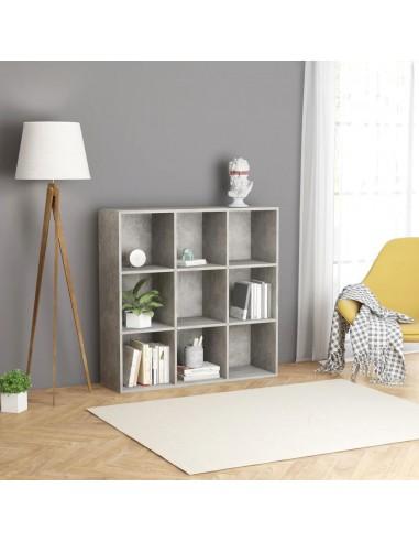 Spintelė knygoms, betono pilkos spalvos, 98x30x98cm, MDP | Knygų Spintos ir Pastatomos Lentynos | duodu.lt
