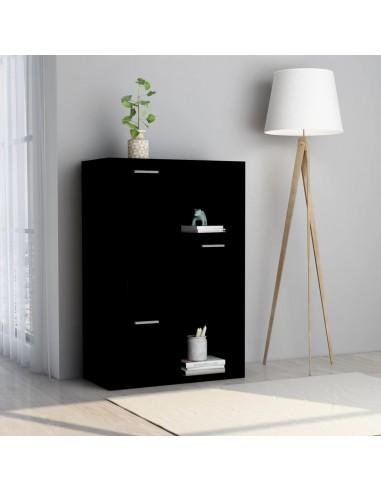 Spintelė daiktams, juodos spalvos, 60x29,5x90cm, MDP | Knygų Spintos ir Pastatomos Lentynos | duodu.lt
