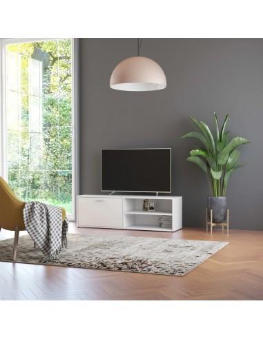 Televizoriaus spintelė, baltos spalvos, 120x34x37cm, MDP | Pramogų Centrai ir TV Stovai | duodu.lt