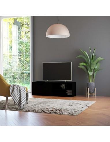 Televizoriaus spintelė, juodos spalvos, 120x34x37cm, MDP | Pramogų Centrai ir TV Stovai | duodu.lt