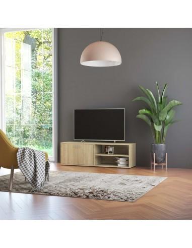 Televizoriaus spintelė, sonoma ąžuolo spalvos, 120x34x37cm, MDP   Pramogų Centrai ir TV Stovai   duodu.lt