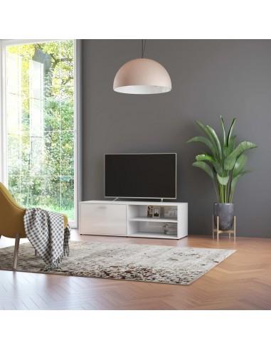 Televizoriaus spintelė, balta, 120x34x37cm, MDP, ypač blizgi   Pramogų Centrai ir TV Stovai   duodu.lt