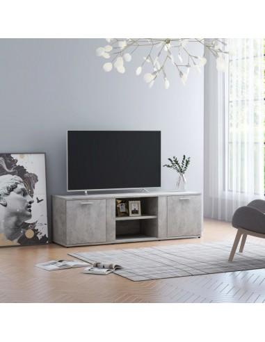 Televizoriaus spintelė, betono pilkos spalvos, 120x34x37cm, MDP | Pramogų Centrai ir TV Stovai | duodu.lt