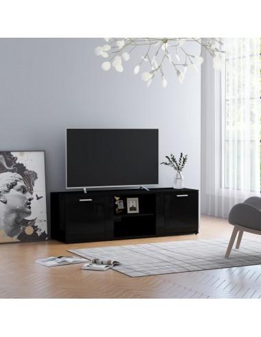 Televizoriaus spintelė, juoda, 120x34x37cm, MDP, ypač blizgi   Pramogų Centrai ir TV Stovai   duodu.lt