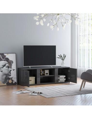 Televizoriaus spintelė, pilka, 120x34x37cm, MDP, ypač blizgi | Pramogų Centrai ir TV Stovai | duodu.lt