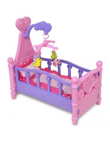Žaislinė lovytė lėlei vaikų kambariui, rožinė ir violetinė   Aksesuarai lėlėms ir modeliukams   duodu.lt