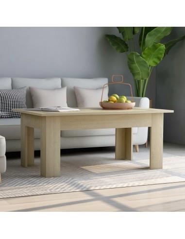 Kavos staliukas, sonoma ąžuolo spalvos, 100x60x42cm, MDP   Kavos Staliukai   duodu.lt