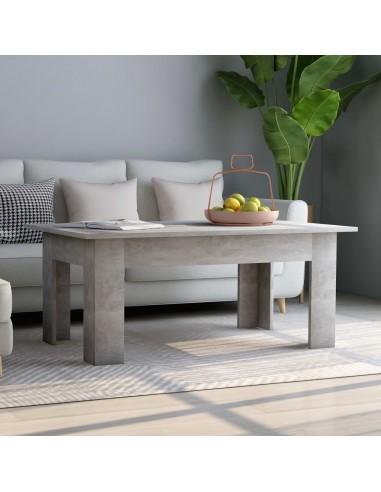 Kavos staliukas, betono pilkos spalvos, 100x60x42cm, MDP   Kavos Staliukai   duodu.lt