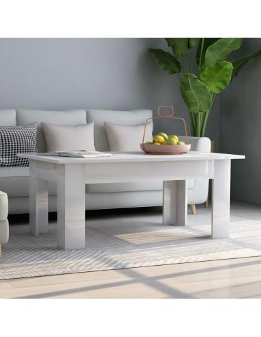 Kavos staliukas, baltos spalvos, 100x60x42cm, MDP, blizgus   Kavos Staliukai   duodu.lt