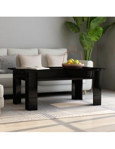 Kavos staliukas, juodos spalvos, 100x60x42cm, MDP, blizgus   Kavos Staliukai   duodu.lt
