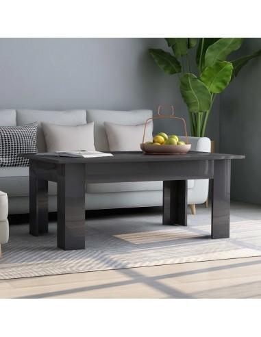 Kavos staliukas, pilkos spalvos, 100x60x42cm, MDP, blizgus | Kavos Staliukai | duodu.lt