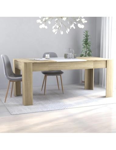 Valgomojo stalas, baltos ir ąžuolo spalvos, 180x90x76cm, MDP | Virtuvės ir Valgomojo Stalai | duodu.lt