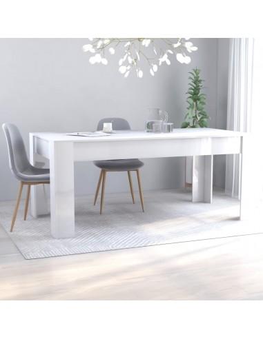 Valgomojo stalas, baltas, 180x90x76cm, MDP, ypač blizgus | Virtuvės ir Valgomojo Stalai | duodu.lt