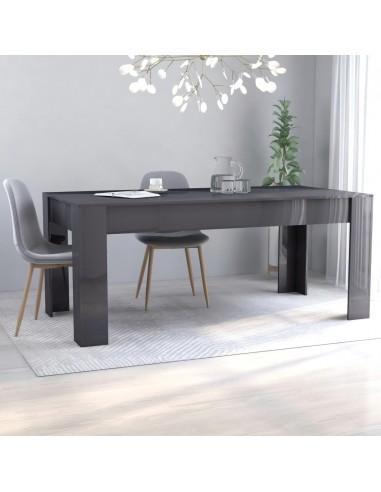 Valgomojo stalas, pilkas, 180x90x76cm, MDP, ypač blizgus | Virtuvės ir Valgomojo Stalai | duodu.lt