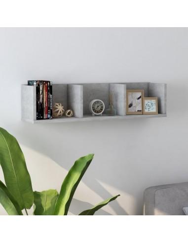 Sieninė lentyna kompaktiniams diskams, pilka, 75x18x18cm, MDP | Sieninės lentynos ir atbrailos | duodu.lt
