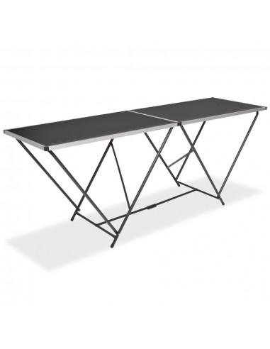 Klijavimo stalas, sulankst., MDF ir aliuminis, 200x60x78cm   Sulankstomi Staliukai   duodu.lt