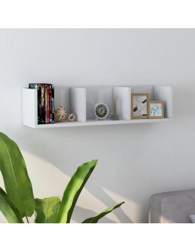 Sieninė lentyna kompaktiniams diskams, balta, 75x18x18cm, MDP   Sieninės lentynos ir atbrailos   duodu.lt