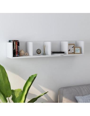 Sieninė lentyna kompaktiniams diskams, balta, 100x18x18cm, MDP   Sieninės lentynos ir atbrailos   duodu.lt