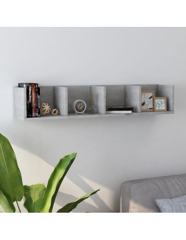 Sieninė lentyna kompaktiniams diskams, pilka, 100x18x18cm, MDP   Sieninės lentynos ir atbrailos   duodu.lt