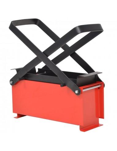 Popier. briketų gamybos presas, 34x14x14 cm, juod. ir raud. sp. | Įrankiai ugniavietėms | duodu.lt