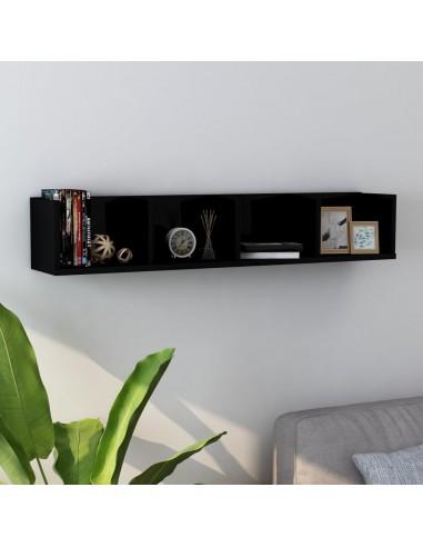 Sieninė lentyna kompaktiniams diskams, juoda, 100x18x18cm, MDP   Sieninės lentynos ir atbrailos   duodu.lt