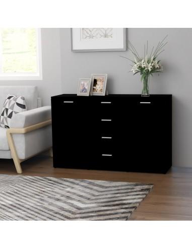 Šoninė spintelė, juodos spalvos, 120x35,5x75cm, MDP | Bufetai ir spintelės | duodu.lt