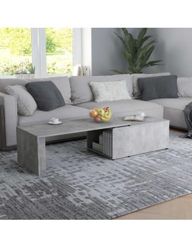 Kavos staliukas, betono pilkos spalvos, 150x50x35cm, MDP     Kavos Staliukai   duodu.lt