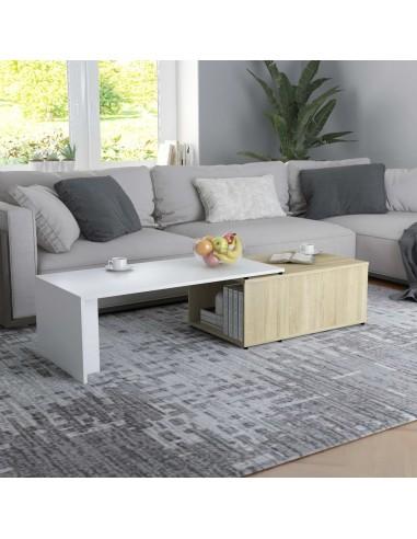 Kavos staliukas, baltos ir ąžuolo spalvos, 150x50x35cm, MDP | Kavos Staliukai | duodu.lt
