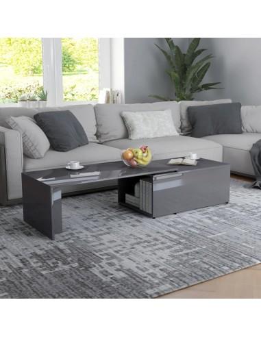 Kavos staliukas, pilkos spalvos, 150x50x35cm, MDP, ypač blizgus   | Kavos Staliukai | duodu.lt